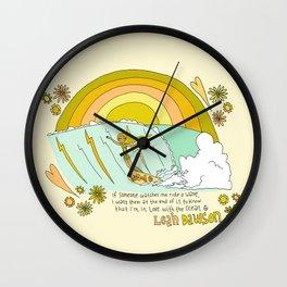 surf legend leah dawson sea love retro surf art by surfy birdy Wall Clock