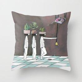 wait your turn Throw Pillow