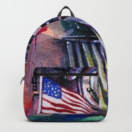 American Train by Kathy Morton Stanion Backpack
