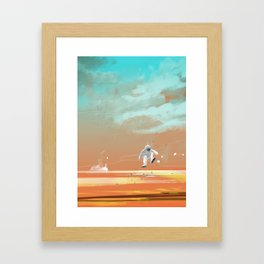 man on mars Framed Art Print