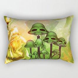 Awesome mushroom skulls Rectangular Pillow