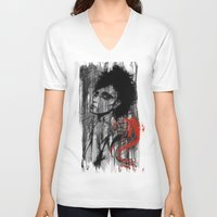 pain V-neck T-shirts featuring Pain by Clayton Young
