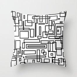 Squarez Throw Pillow