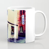cinema Mugs featuring Cinema Roma by Red Bicycle - Amber Elen-Forbat