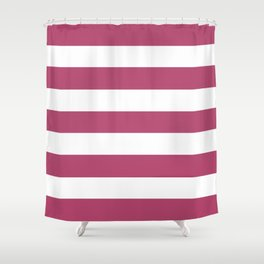 Irresistible - solid color - white stripes pattern Shower Curtain