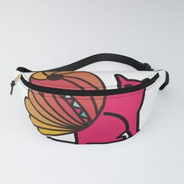 my pink cat fly Fanny Pack
