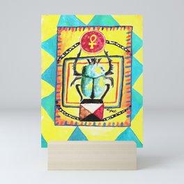 Scarab stone Mini Art Print