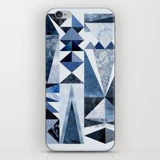 Blue Shapes iPhone & iPod Skin