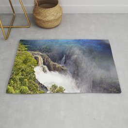 Wild waterfall in abstract Rug