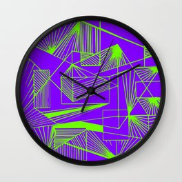 Polygon collection - green Wall Clock