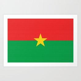 Burkina Faso Flag (Canvas Look) Art Print