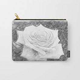 Pink Roses in Anzures 4 Charcoal Carry-All Pouch