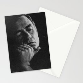 A Contemplative Johnny Cash  Stationery Cards