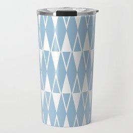 Mid Century Modern Diamond Pattern Pale Blue 234 Travel Mug