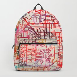 Glenview map Illinois IL Backpack