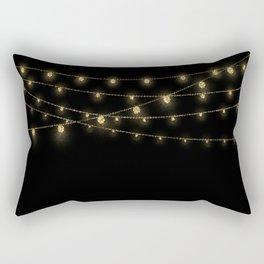 Gold rich Glitter Chain- Treasure Sparkle Rectangular Pillow