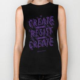 To Create is To Resist Biker Tank