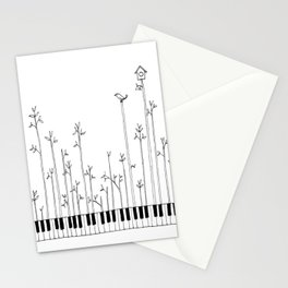 let the music grow Stationery Cards