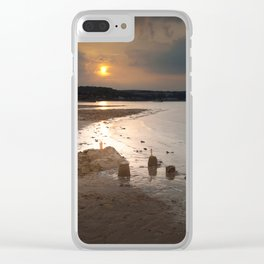 Sandcastles at sunset Clear iPhone Case