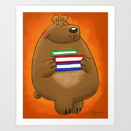 Ready to Read Bear! Art Print