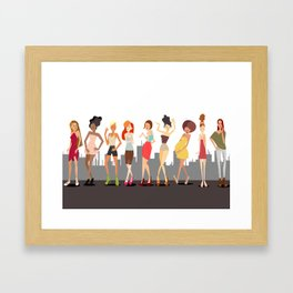 Girls girls Girls Framed Art Print