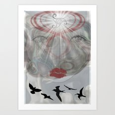 Face Light Art Print