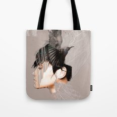 Morrigan, Celtic goddess Tote Bag