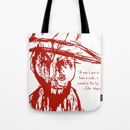 Cowboy Creed Tote Bag
