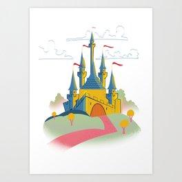 Vintage old castle Art Print