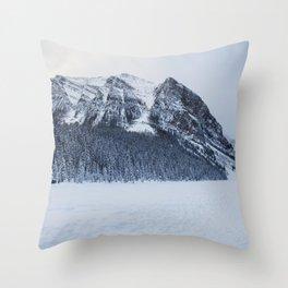 Snowy Mountain Throw Pillow