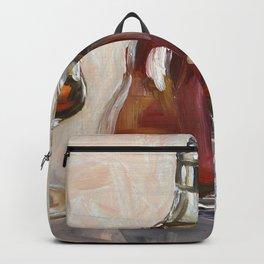 Cognac, alcohol, original oil painting Backpack