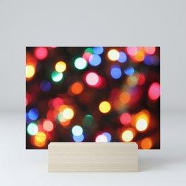Colored Christmas Lights (2) Mini Art Print