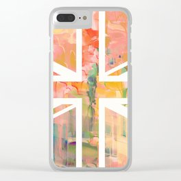 Pastel Britannia Clear iPhone Case