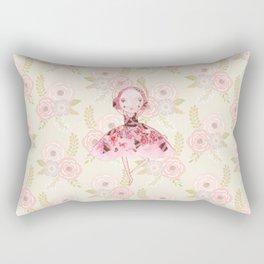 Isabella Bellarina Dancing on Flowers Rectangular Pillow