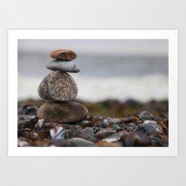 Stones at the sea Art Print