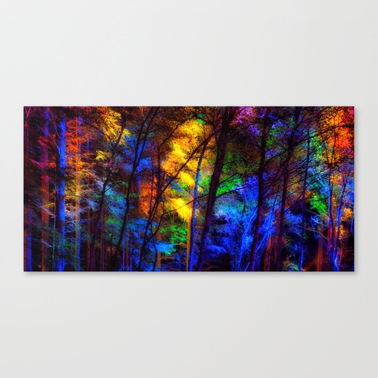 Rainbow Enchanted Forest Canvas Print