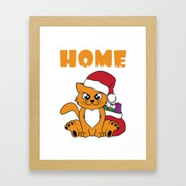 """Perfect gift this coming holiday! Give the best and cutest gift ever. Grab this """"Christmas Cat"""" now! Framed Art Print"""