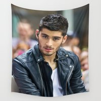 zayn Wall Tapestries featuring Zayn Malik by behindthenoise