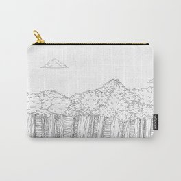 BigFoot Forest (Black and White) Carry-All Pouch
