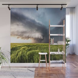 Leoti's Masterpiece - Incredible Storm in Western Kansas Wall Mural