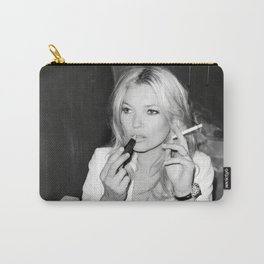 Smoking Kate Moss - Home Décor, Vintage poster, Fashion, Model, Print, Carry-All Pouch