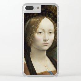 Leonardo da Vinci Ginevra de' Benci 1474 -1478 Painting Clear iPhone Case