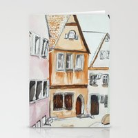 german Stationery Cards featuring German Street by picturefire