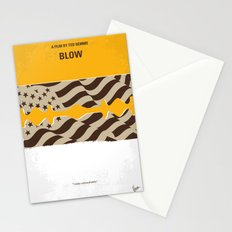 No693 My Blow minimal movie poster Stationery Cards