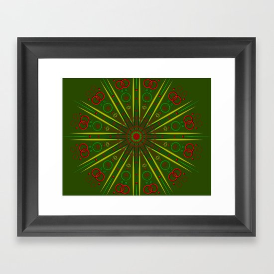 Greens and Reds Framed Art Print