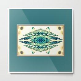 blue grass mosaic Metal Print