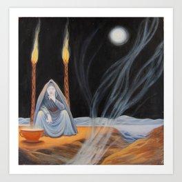 Hecate - Full Moon - Halloween 2014 Art Print