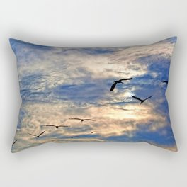 Up Early With the Birds Rectangular Pillow