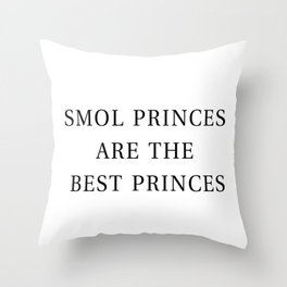 Smol Bookish YA Princes White Throw Pillow