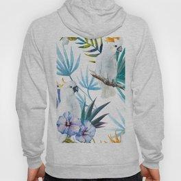 Tropical Cockatoo Watercolor Pattern Hoody